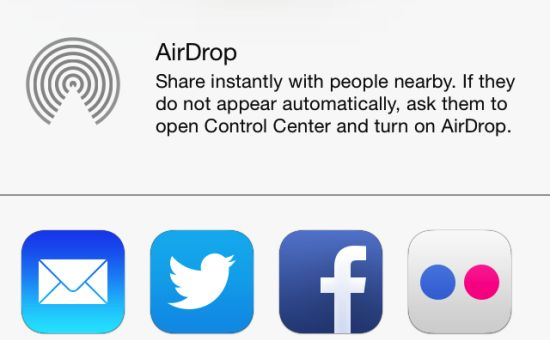 AirDrop iOS 7 hack