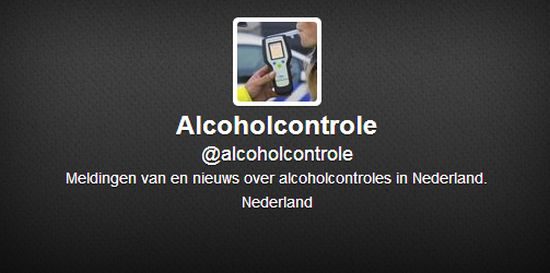Alcoholcontrole op Twitter