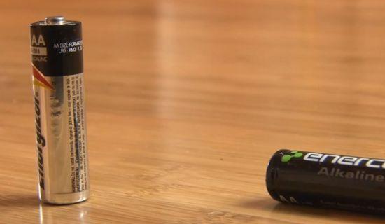 Alkaline batterij testen