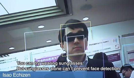 Anti-gezichtsherkenningsbril