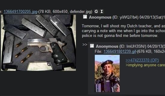 Bedreiging via 4chan