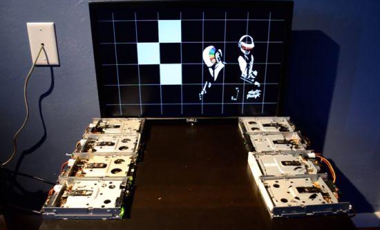 Daft Punk Aerodynamic met floppydiskdrive