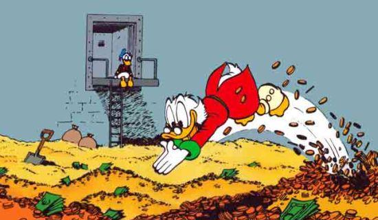 Dagobert Duck geldpakhuis