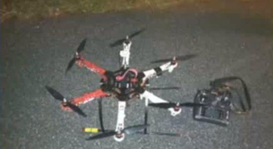 Met een drone smokkelen