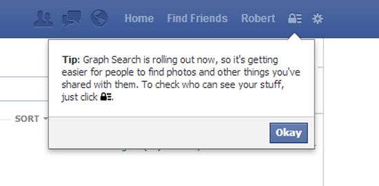 Facebook Graph Search waarschuwing
