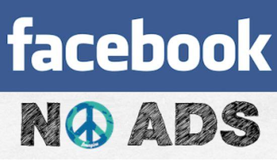 Facebook zonder reclame