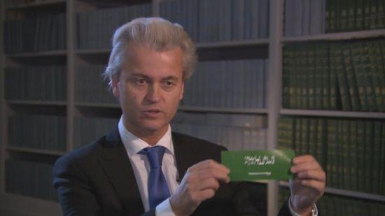 Geert Wilders anti-Islam sticker