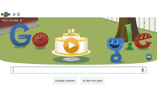 Google 15 jaar Doodle