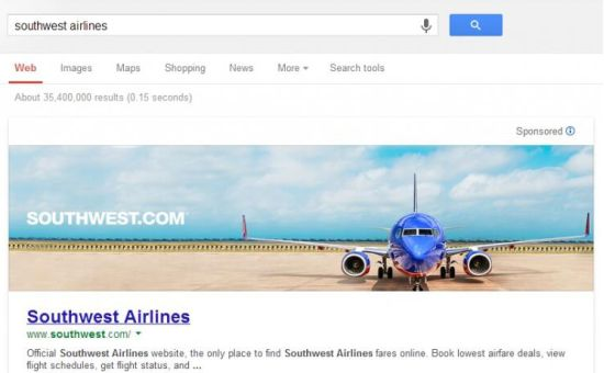 Banner op homepage Google.com