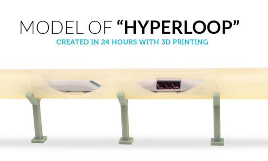 Hyperloop rolt uit 3D printer