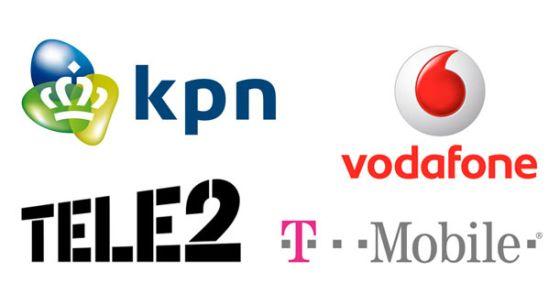 KPN Vodafone Tele2 T-Mobile