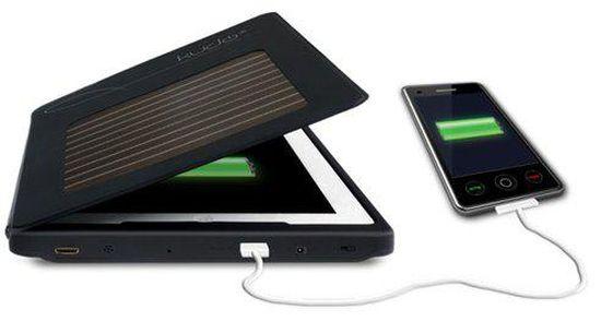iPad case met zonne-energie