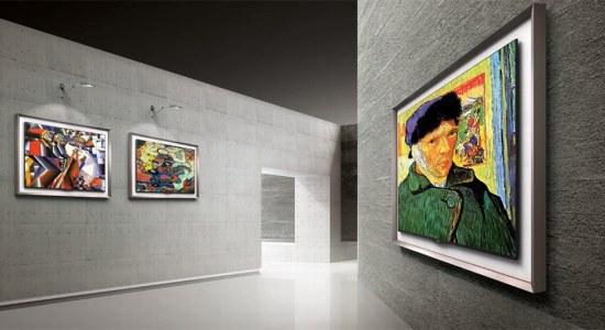 LG OLED TV kunst
