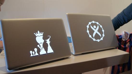 Lichtgeven MacBook figuren