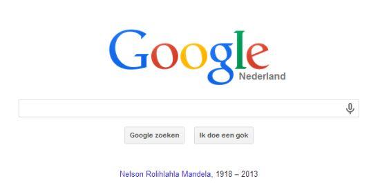Google herdenkt Nelson Mandela