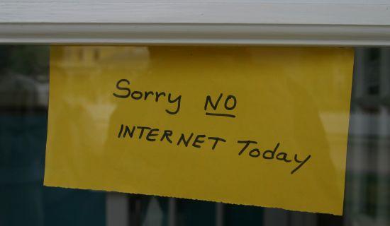 No internet today