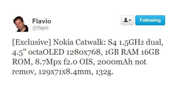 Nokia Catwalk Twitter Bericht