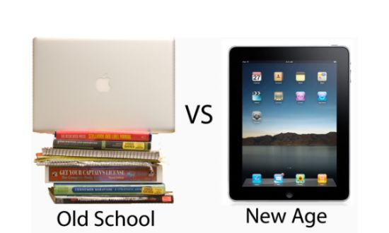 Old School vs iPad