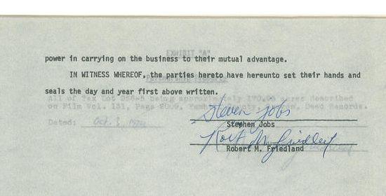 Overeenkomst Steve Jobs