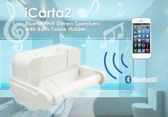 Eindelijk! Toiletrolhouder met speakers en bluetooth