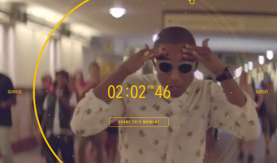 Pharrell Williams maakt videoclip van 24 uur