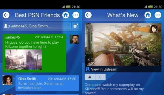 PlayStation app voor Android & iOS