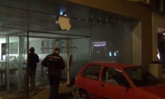 Ramkraak Apple Store Haarlem
