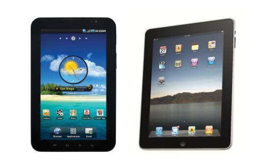 Samsung Galaxy vs iPad