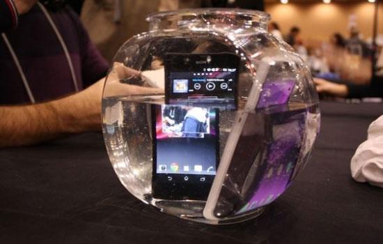 Sony Xperia Z in vissenkom