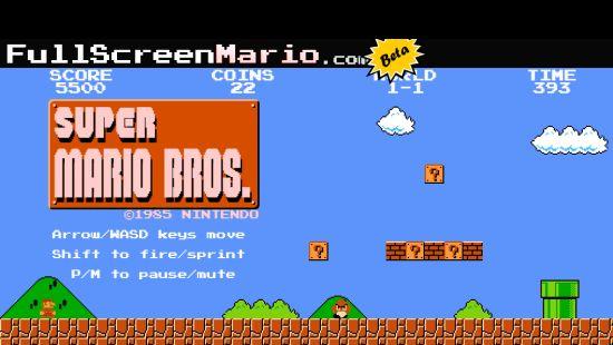 Super Mario Full Screen