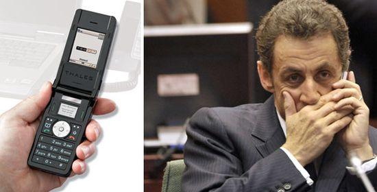 Thales mobieltje & Sarkozy
