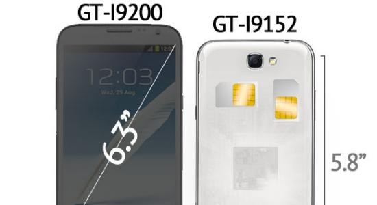 Twee Samsung Galaxy Mega smartphones met 5,8 en 6,3 inch onder weg