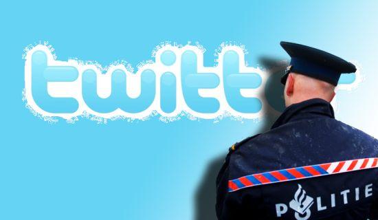 Twitter politie bedreigingen