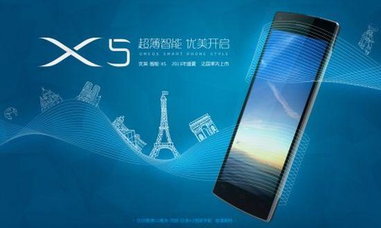 Umeox X5: dunste smartphone ter wereld