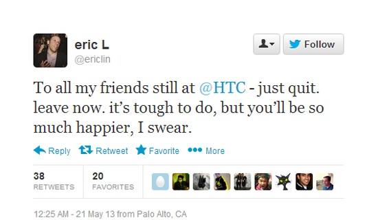 Verlaat HTC nu!