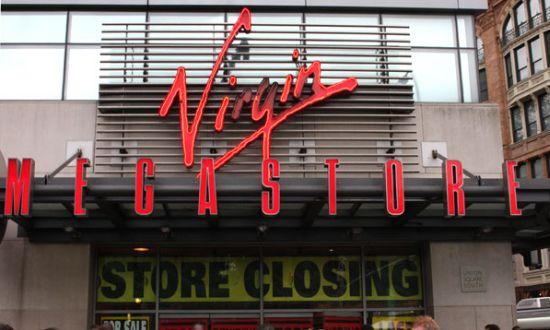 Sluiting Virgin Megastore
