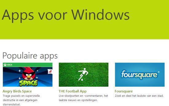 Windows 8 apps voor Xbox One