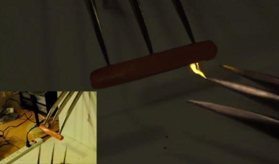 Wolverine-klauwen worstje bakken