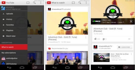 YouTube app 5.0 voor Android