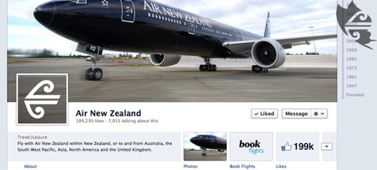 Air New Zealand Facebook