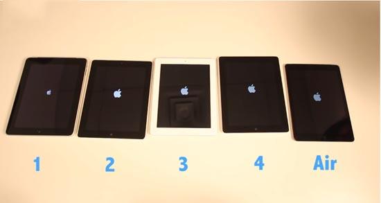 De iPad Air versus elke andere iPad