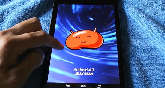 Android 4.3 Jelly Bean op de Nexus 7