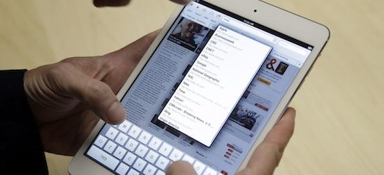 'iPad Mini 2 met Retina-scherm vertraagd tot volgend jaar