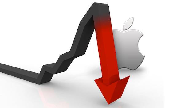 Koers Apple daalt
