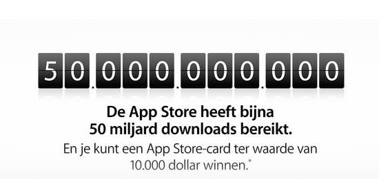 Apple App Store 50 miljard downloads