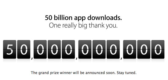 Apple App Store 50 miljardste downloads
