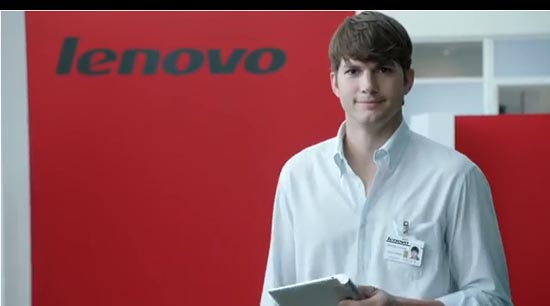 Ashton Kutcher bij Lenovo