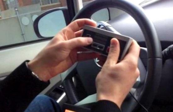 Auto besturen NES-controller