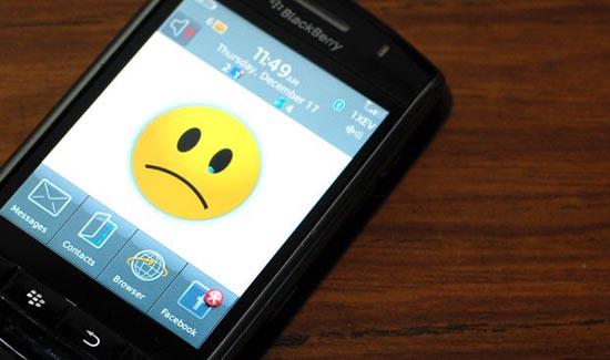 Sad BlackBerry is sad