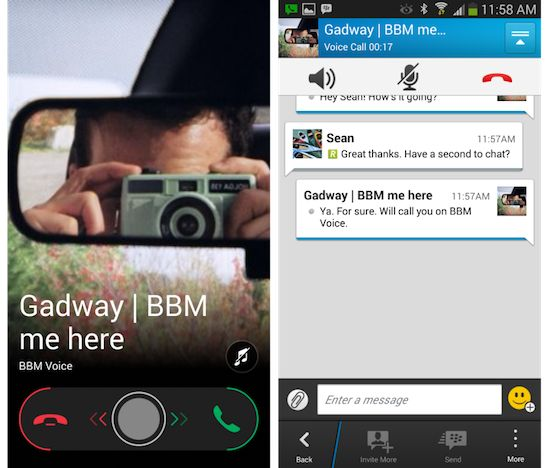 Blackberry Messenger (BBM)